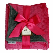 Meg Original Hot Pink & Charcoal Blanket