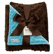 Meg Original Brown & Turquoise Blanket