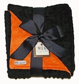 Meg Original Orange & Black Minky Blanket