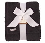 Meg Original Black Minky Dot Blanket