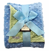 Meg Original Blue & Green Minky Dot Blanket