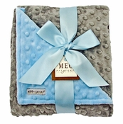 Meg Original Blue & Gray Minky Blanket