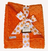 Meg Original Orange Minky Dot Blanket