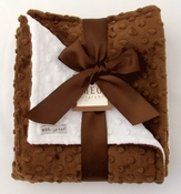 Meg Original Brown & White Minky Dot Blanket