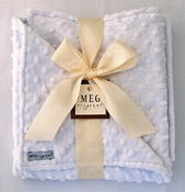 Meg Original White Minky Dot Baby Blanket