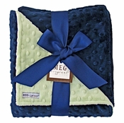 Meg Original Navy Blue & Green Blanket