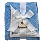 Meg Original Blue & White Minky Blanket