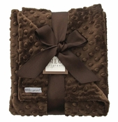 Meg Original Chocolate Minky Dot Blanket