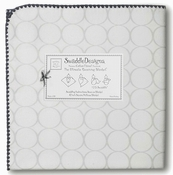 *New Color* SwaddleDesigns - Ultimate Receiving Blanket - Mod Circles on White - Sterling