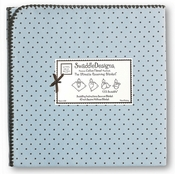 SwaddleDesigns - Ultimate Receiving Blanket - Pastel Blue with Brown Dots