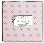 SwaddleDesigns - Ultimate Receiving Blanket - Pastel Pink with Brown Dots