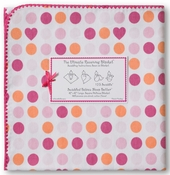 Ultimate Receiving Blanket Dots and Hearts Fuchsia
