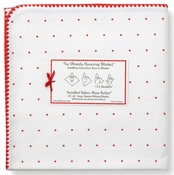Ultimate Swaddle Receiving Blanket Little Stars Red