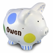 Confetti Piggy Bank for Boy