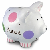 Confetti Piggy Bank for Girl