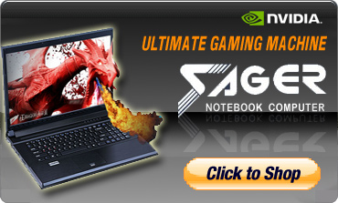 SAGER Gaming Laptops for customize and build