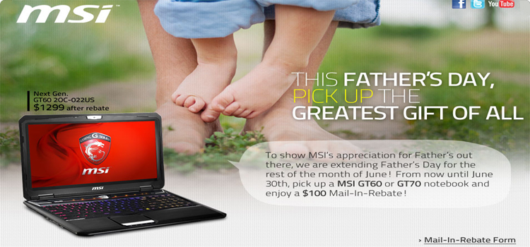 MSI GT60 / GT70 Custom Gaming Laptop, Intel 4th Generation Core i7 Mobile CPU with Cheaper Price