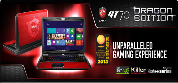 MSI GT70 2OD-039US Dragon Edition 2 with NVIDIA GEFORCE GTX 765