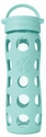 Turquoise Glass Beverage Bottle 16 oz