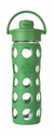 Grass Green Glass Beverage Bottle with Flip Top Cap 16oz