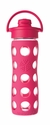 Raspberry Glass Beverage Bottle with Flip Top Cap 16oz