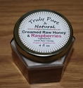 Creamed Raw Honey - Organic Raspberry 4 oz