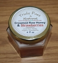 Raw Creamed Honey - Organic Strawberry 6 oz