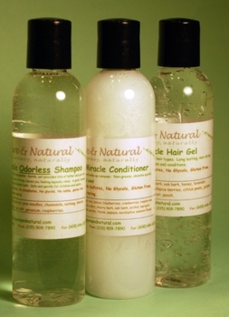 Tate's Combo Pack 4 oz. <i>Odorless</i> Shampoo,<br> Conditioner and Hair Gel