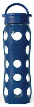Midnight Blue Glass Beverage Bottle 22 oz