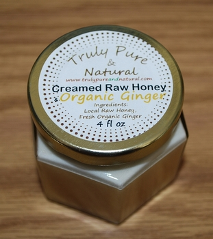 Raw Creamed Honey - Organic Ginger 6 oz