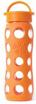 Orange Glass Beverage Bottle 22 oz