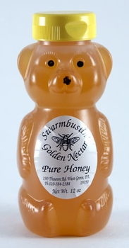 Raw Golden Nectar Honey Bear 12 oz.