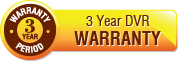 3 Year DVR Warranty