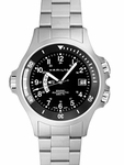 H77615133 HAMILTON KHAKI NAVY GMT MENS WATCH