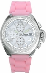 Freelook Aquamarina Pink Strap White Dial Watch HA1137-5