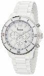 Freelook White Ceramic Crono Watch HA5108-9