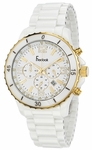 Freelook Ceramic White Chrono Watch HA5108G-9