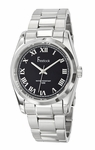 Freelook SS Roman Numerals Black Dial Watch HA5304-1