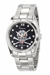 Freelook Black SKULL Dial Stainless Steel Watch HA5304-1C