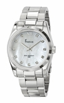 Freelook White Mother-of-Pearl Dial Stainless Steel Watch HA5304-9