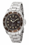 Freelook Sea Diver Brown Dial Stainless Steel Watch HA5305-2