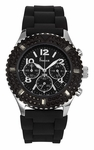 Freelook Aquamarina Royale Black/SS Chrono Watch HA9083CHB-9