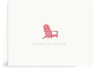 Adirondack Chair - Folded Note Cards