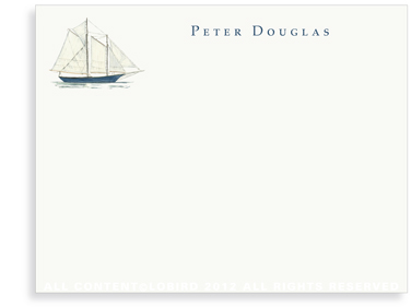 Schooner - Flat Note cards
