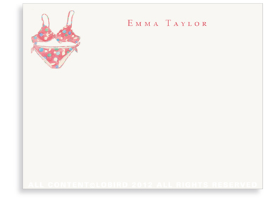 Red Bikini - Flat Note cards