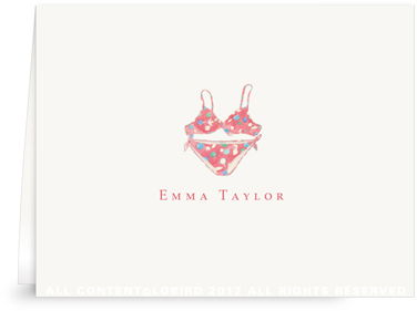 Red Bikini - Folded Note Cards
