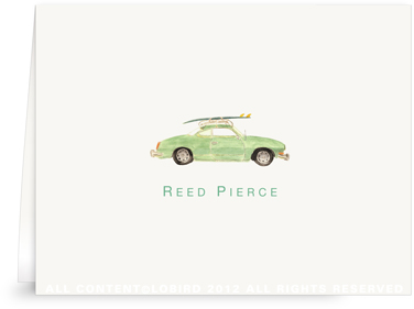 Vintage Surf Car - Folded Note Cards