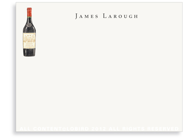 Bottle Vintage Red Wine - Flat Note Cards