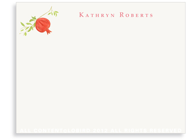 Pomegranate -Flat Note cards