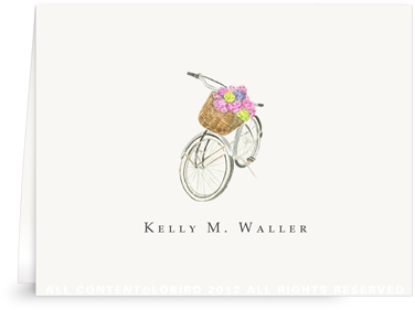 Country Bike - Folded Note Cards